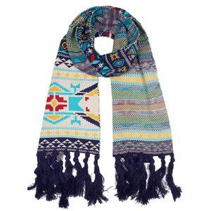 Elegant Essence Western Pattern Knit Oblong Scarf